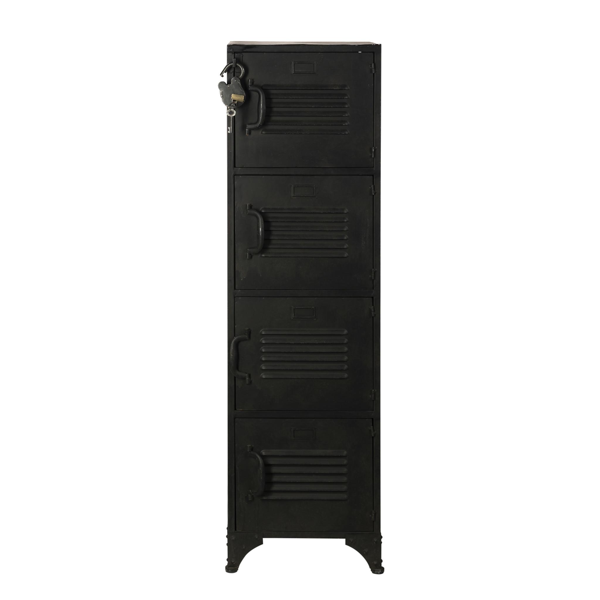 Rootsmann Locker 4 deuren | Zwart met slot