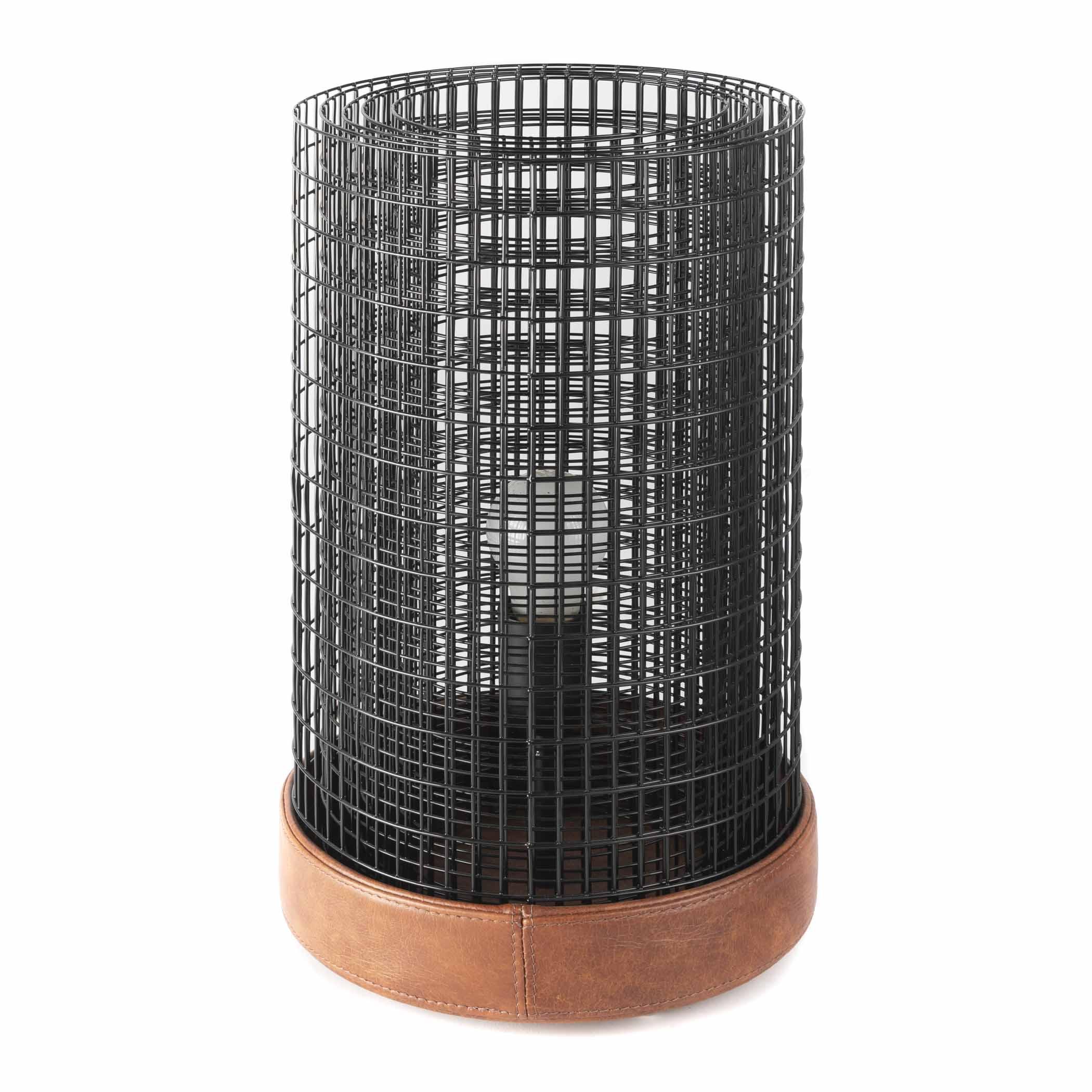 Rootsmann Wired People tafellamp Lennard | zwart
