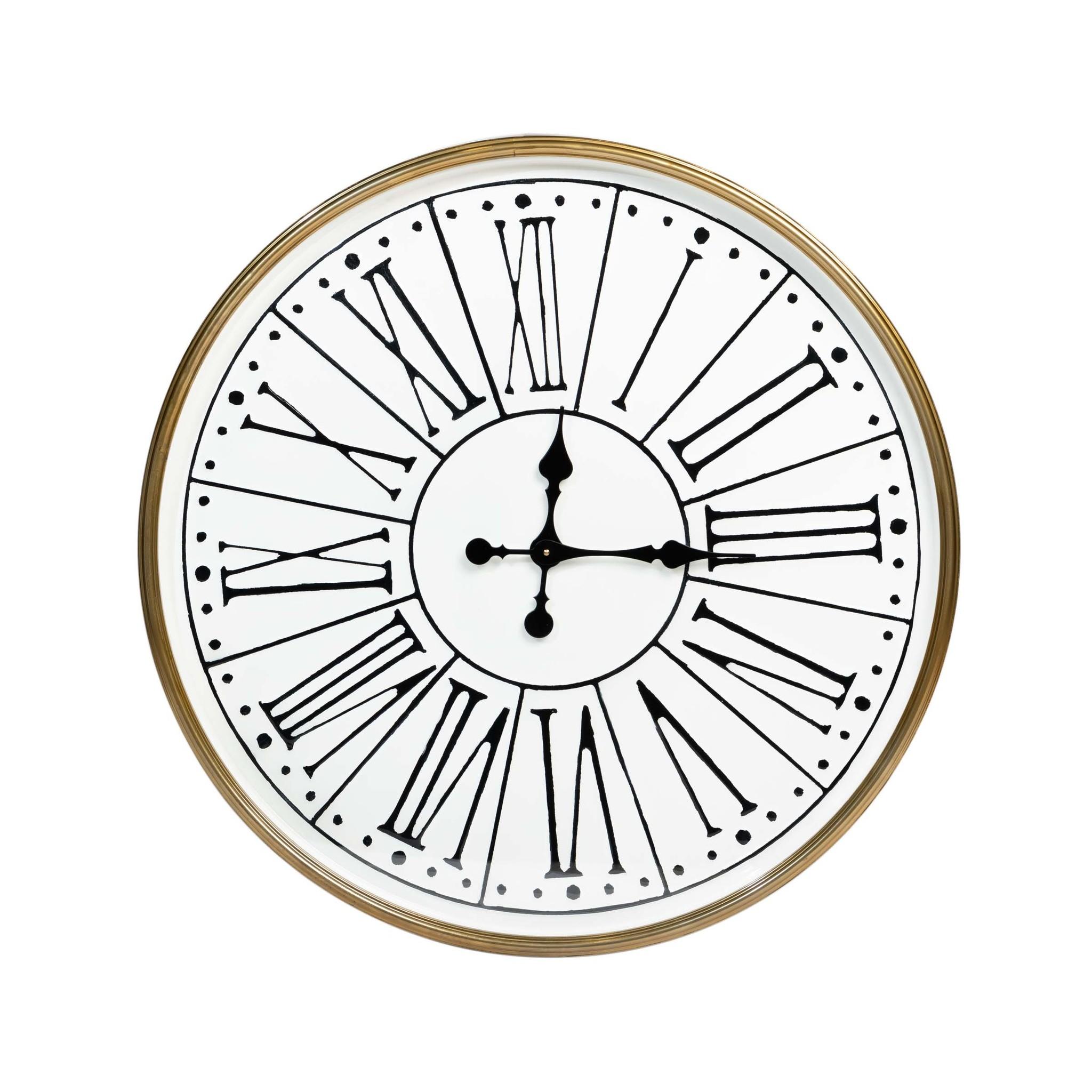 Rootsmann Industri�le witte klok 81cm