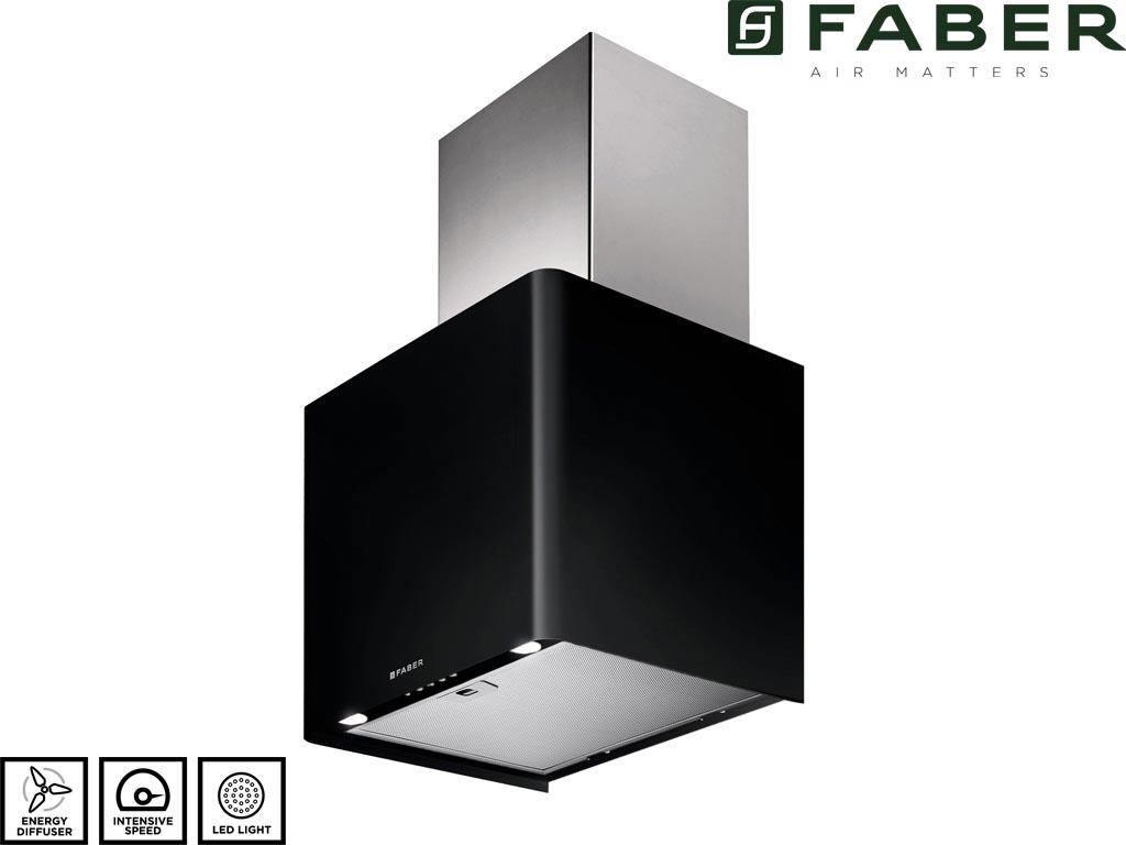 FABER LITHOS 45 CM ZWART/RVS
