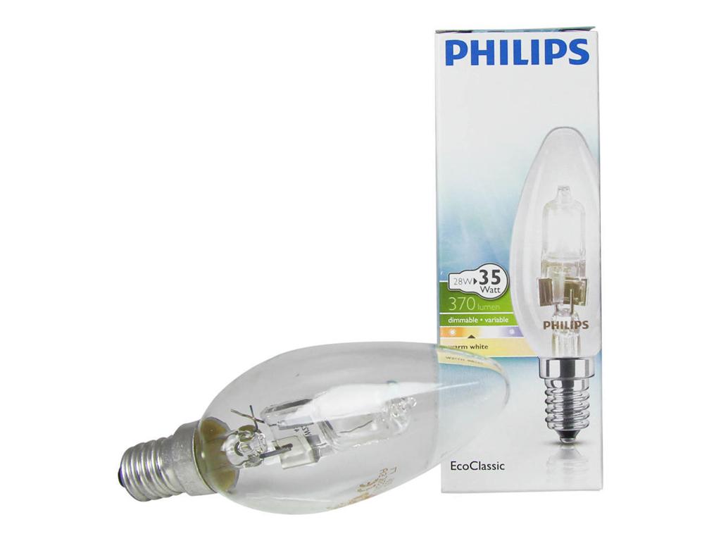 HALOGEEN LAMP E14, DIMBAAR 28W