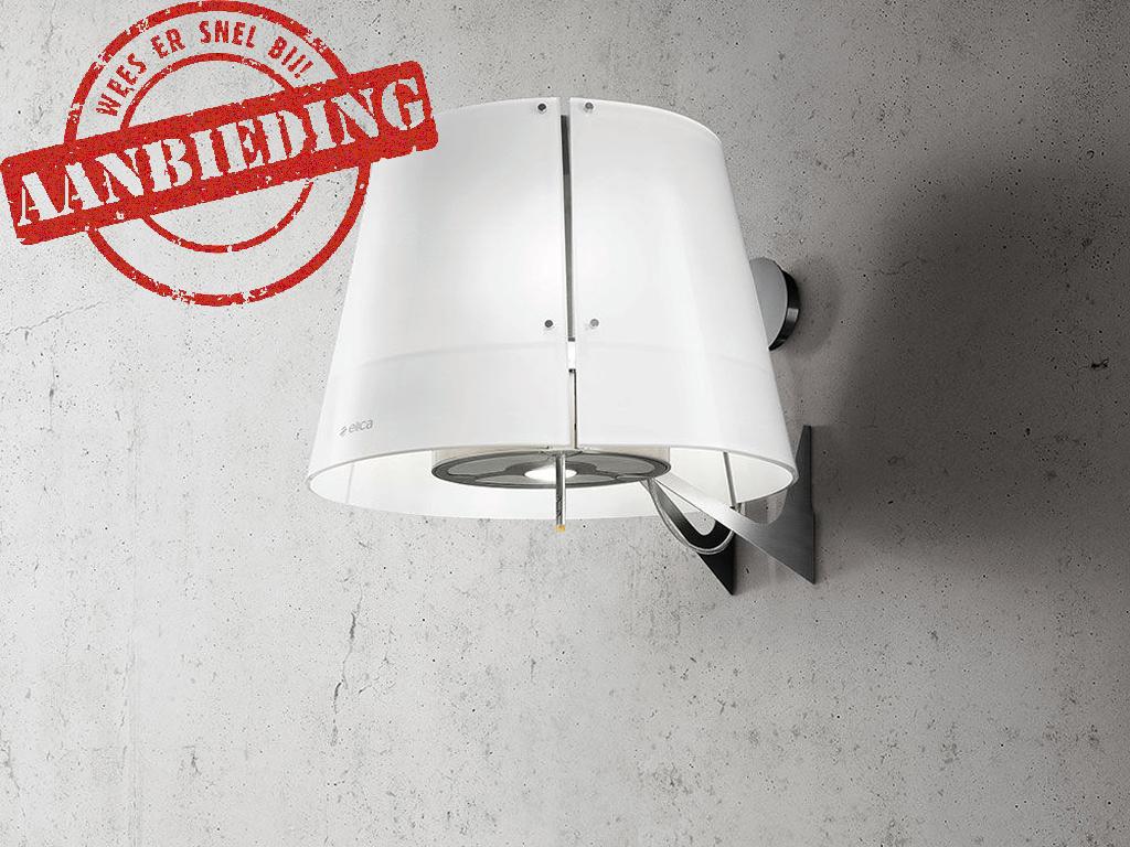 ELICA GRACE 51 CM RVS/WIT GLAS (NAJAARSAANBIEDING)  * dimbare sfeer verlichting * recirculatie mbv LongLife koolstoffilters  >>> SPECIALE ACTIE, NU MET EXTRA KORTING <<<  - recirculatie-uitvoering - wand afzuigkap geschikt voor montage aan de muur - eiland afzuigkap geschikt voor montage aan het plafond - rvs / wit melkglas - 515 m3/h, 309W - geluidsniveau max. 66 dBA - 1x 5W 4000K led lamp +  3x28W halogeen kaarslampen  - electronische druktoetsen op staaf - 4 vaatwasserbestendige vetfilters  - incl.