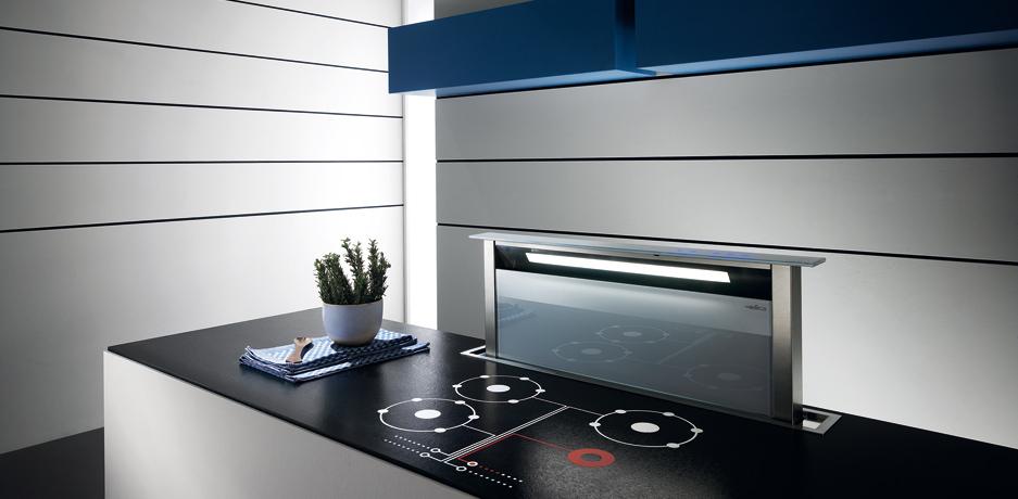 een witte elica adagio downdraft afzuigkap kopen. Black Bedroom Furniture Sets. Home Design Ideas