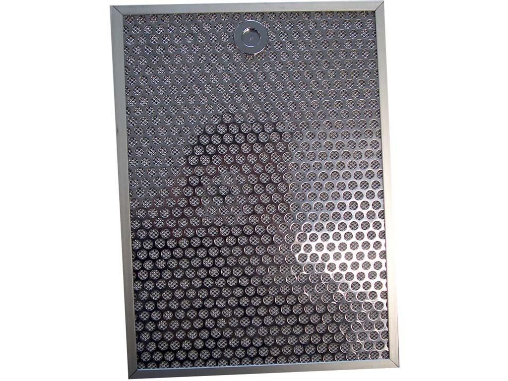 """VETFILTER ALU/RVS """"LUXE"""" afmeting 234x318x9 mm  met dopgreep o.a. K20L/K29L/K4L.1"""