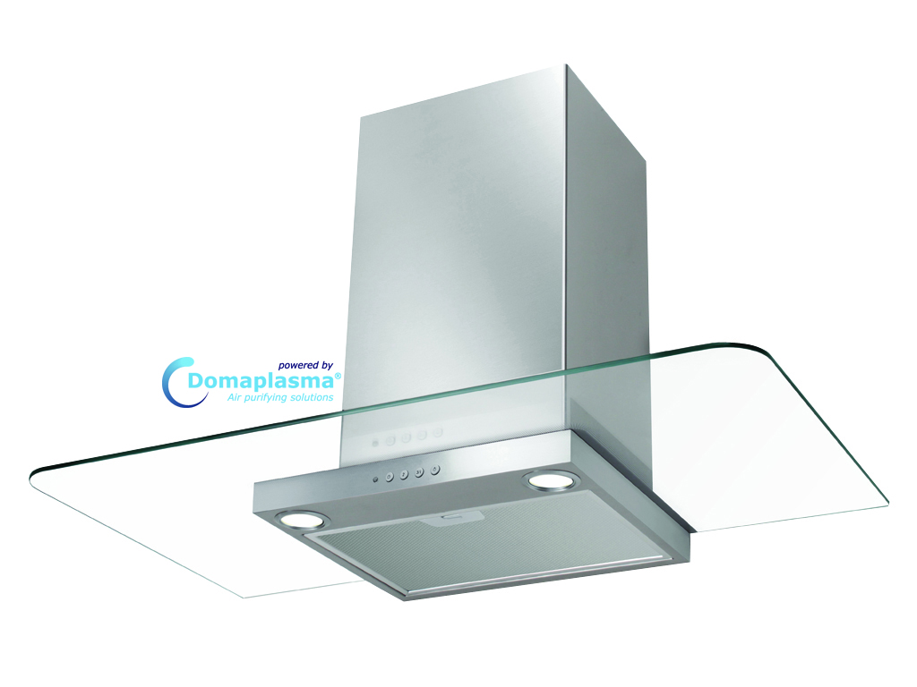 FABER NICE-Dp 90 CM RVS/GLAS + Domaplasma