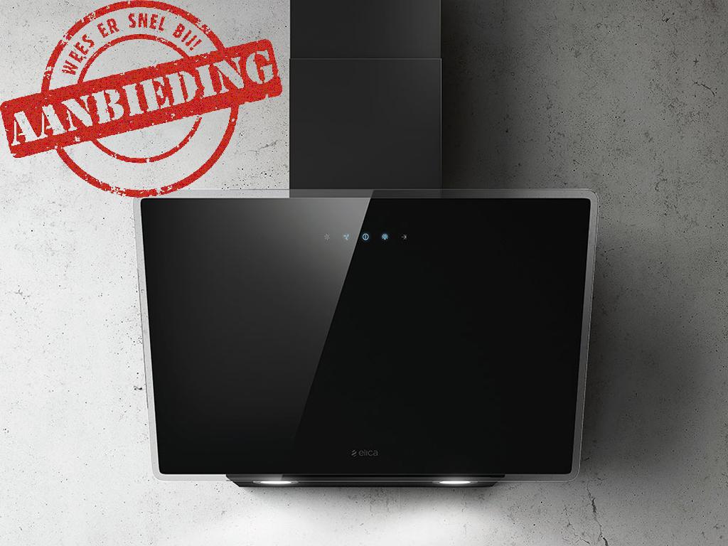 ELICA SHIRE 60 CM ZWART/GLAS schuine wand afzuigkap voor montage aan de muur  >> SPECIALE ZOMER ACTIE, NU MET EXTRA KORTING <<  - 713 m3/h, 272W - max. 68 db(A) - 2x1W LED 4.000K verlichting  - soft-touch control bediening - vetfilters aluminium - afstand kookplaat min. 55 cm (inductie) - afstand kookplaat min. 60 cm (gas) - afvoeraansluiting 150 mm - energieklasse: B - geschikt voor luchtafvoer en recirculatie (koolstoffilterset extra bijbestellen)  Accessoires optioneel:  - CFC0038668 = koolstoffilter set  Standaard actief koolfilter: Koolfilter met een levensduur van ongeveer 3-4 maand bevat kool granulaat en vangt circa 60% van geuren.  High Performance actief koolfilter: Vangt meer geur en wordt gemaakt door polyurtethaan en kool, het kan niet in de vaatwasser worden gewassen, heeft een levensduur tijd van circa 5-6 maand, maar het vangt meer dan 80% van geuren.  Long Lasting (Longlife) actief koolfilter: langste levensduur, de koolfilter wordt gemaakt door polyurethaan in combinatie koolstof. De levensduur is ongeveer 3 jaar, het kan regelmatig in de vaatwasser worden gewassen, het vangt circa 60% van de geuren.