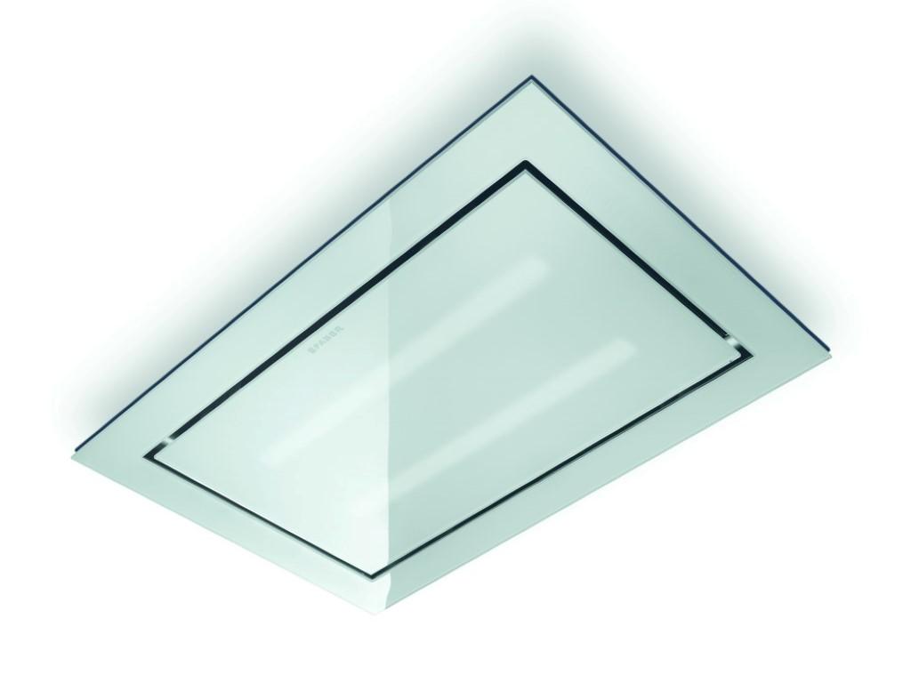Faber eiland afzuigkap skylift in het wit glas kopen for Plafond logic
